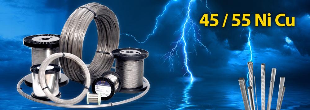 Thép điện trở Nicken-Đồng 45/55 Ni Cu
